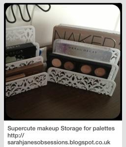 Pinterest - comment ranger ses palettes de maquillage