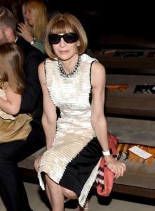 Anna Wintour wearing Apple Watch
