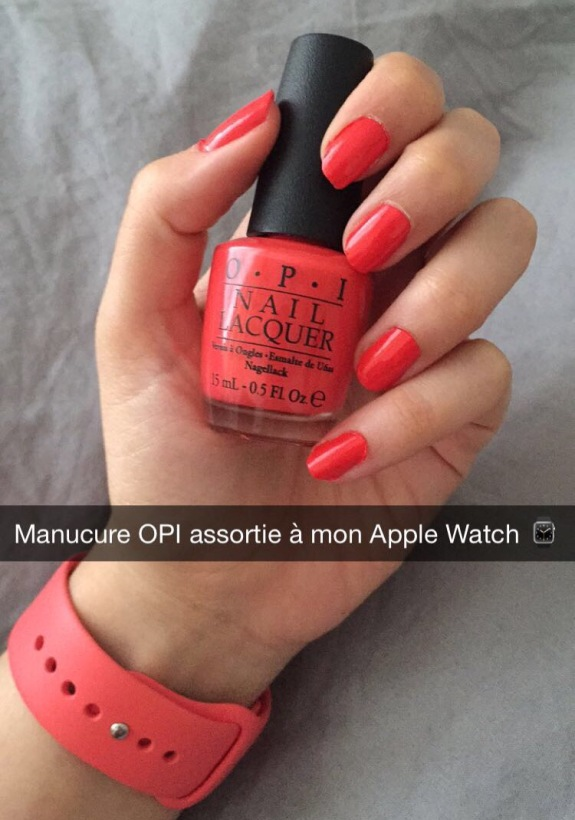 Manucure OPI Apple Watch