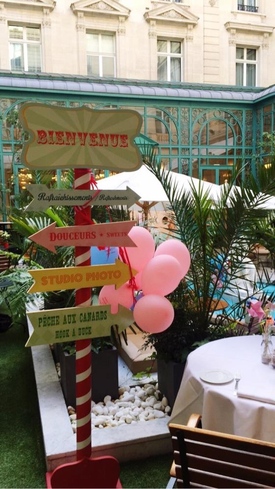 Restaurant Westin Hotel Le First Paris Fête Forraine