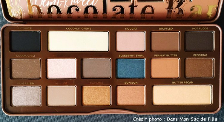 Teintes Too Faced Semi Sweet Chocolate Bar Palette