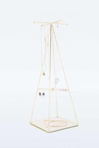 Présentoir à bijoux pyramidal en fil métallique doré Urban Outfitter