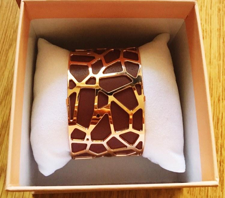 Bracelet manchette Les Georgettes marron