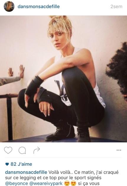 Instagram dans mon sac de fille blog beaute mode beyonce Ivy Park avis