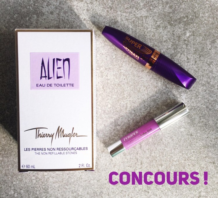 Concours Thierry Mugler Alien Eau de Toilette, Chubby Stick Baby Tint Clinique et Mascara Super Curler 24h Rimmel
