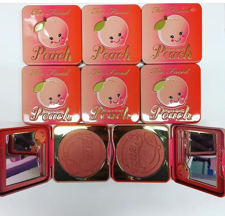 Too Faced blush sweet peach papa don't peach date sortie blog spring printemps