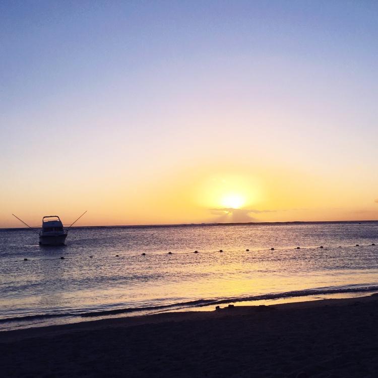 Couché de soleil plage flic-en-flac ile maurice