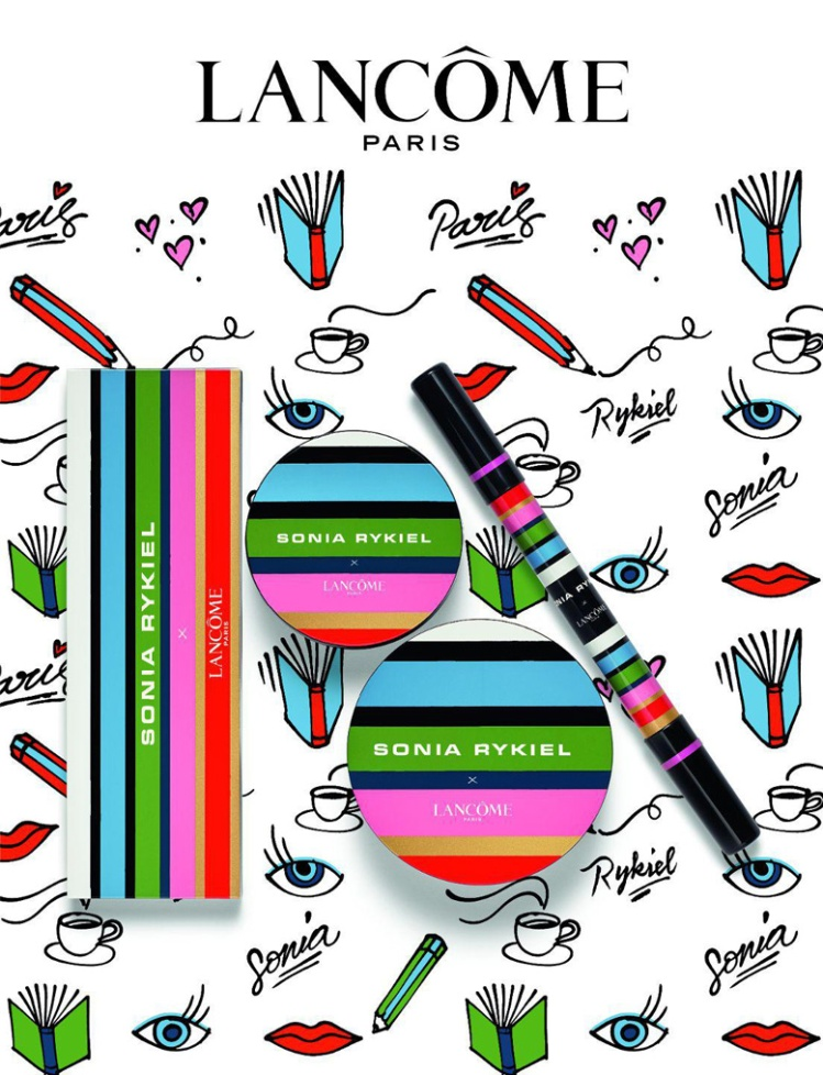Lancôme X Sonia Rykiel collection maquillage palette yeux saint germain vernis in love cushion blush subtil saint germain parisienne