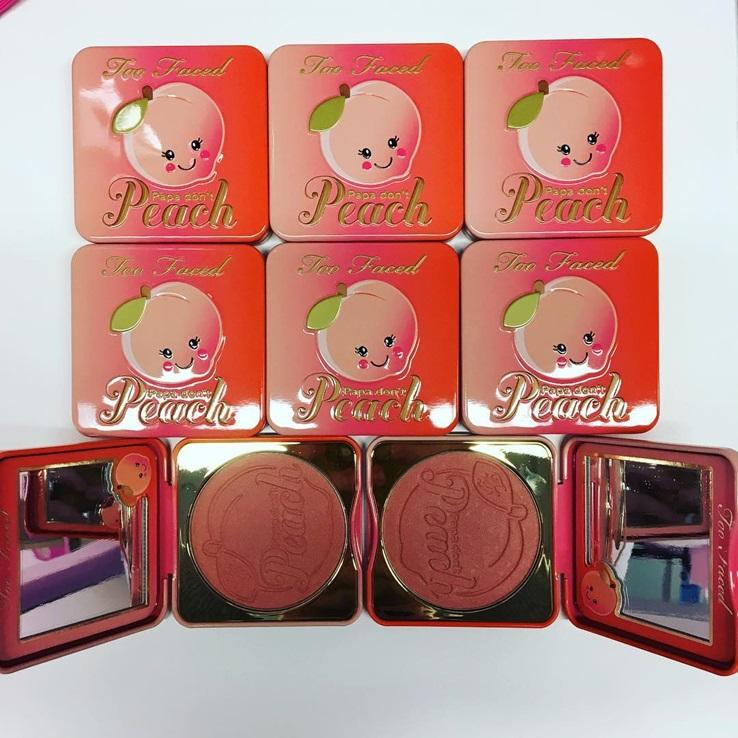 Papa Don't Peach Too Faced palette blush highlight