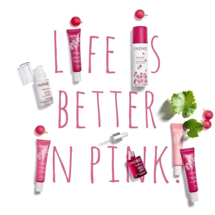 Life is better in pink Coffret boîte collector Vinosource Caudalie et Kure Baazar