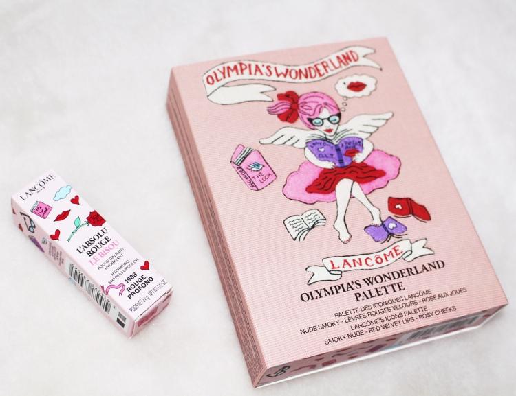 Lancôme X Olympia Le-Tan : mon avis sur la jolie palette Olympia's Wonderland et sur le Rouge Bisou collector blog !