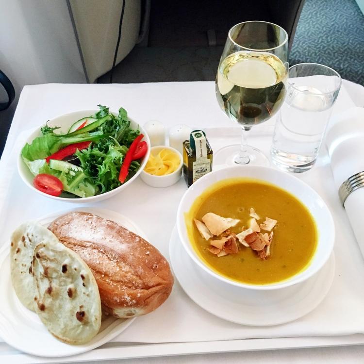diner voyage en Business Emirates mon avis la classe affaire A380 blog